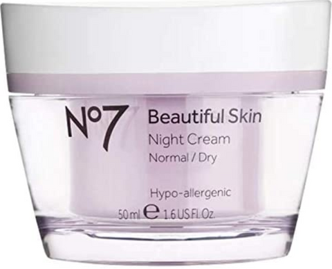 No7 Beautiful Skin Night Cream For Normal / Dry Skin 50Ml by No. 7