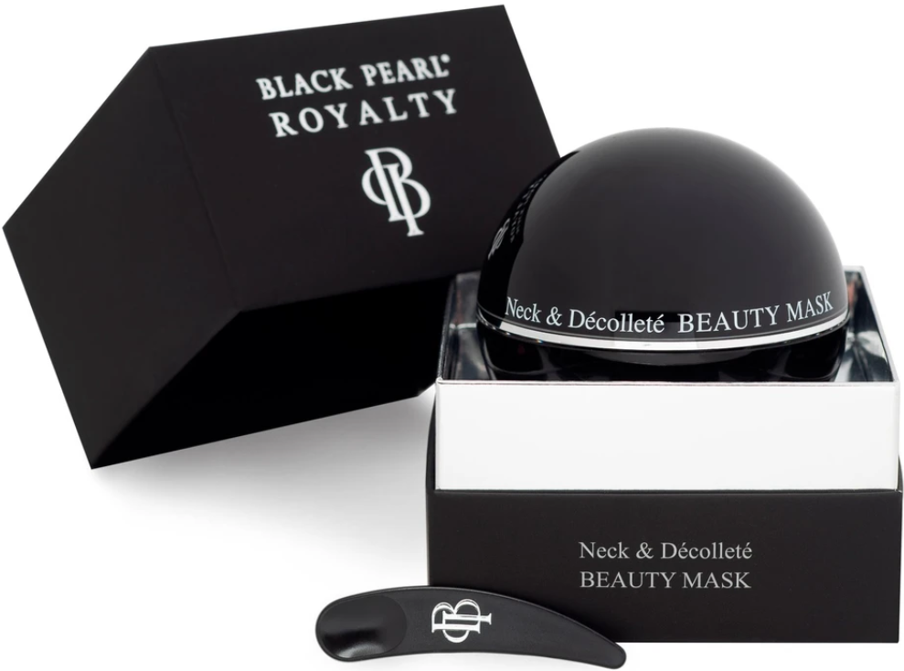 black pearl neck and decollete beauty mask