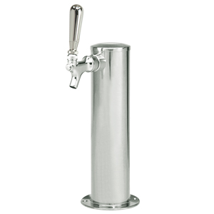 "3"" Column - Spin Stop Single Faucet - Polished Stainless Steel - Air Cooled"