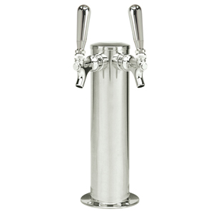 "3"" Column - Spin Stop Double Faucet - Polished Stainless Steel - Air Cooled"