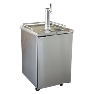 Micro Matic Pro-Line Direct Draw Keg Refrigerator Stainless Steel with Glass Rinser
