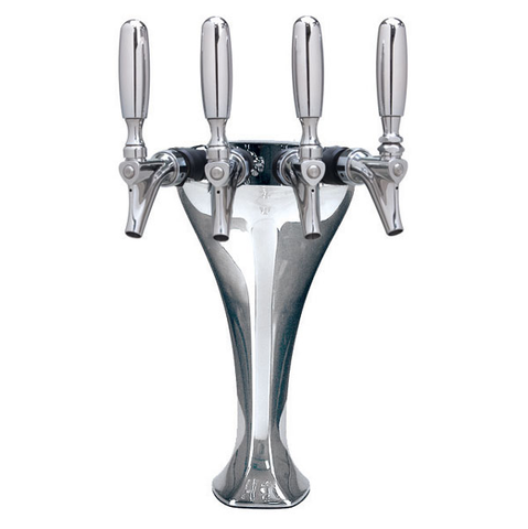 Cobra - Glycol Cooled - 4 Faucet with Illuminated Medallions
