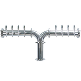 "Titan ""Y"" - 8 304 Faucets - Polished Stainless Steel - Glycol Cooled"