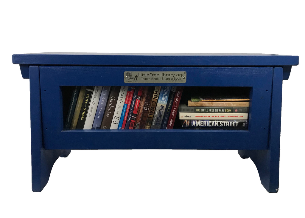 Book Sharing Bench Blue Little Free Library
