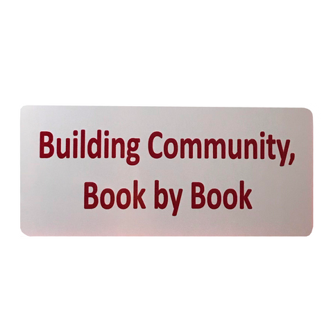 Building Community, Book by Book Tribute Plaque