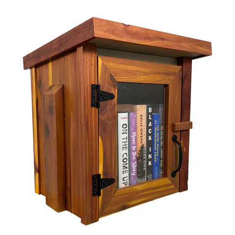 Cedar Mini Shed Library Add On