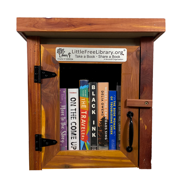 Cedar Mini Shed Little Free Library