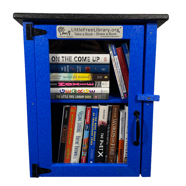 Composite Two Story Blue Little Free Library