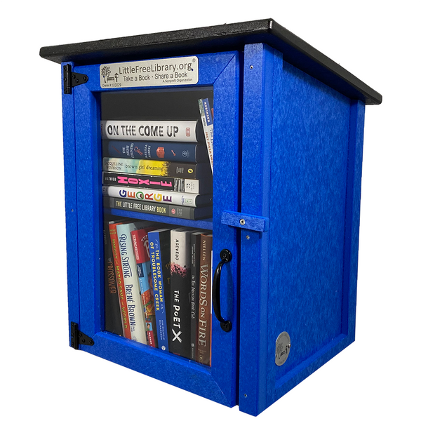 Composite Two Story Blue Kit Little Free Library