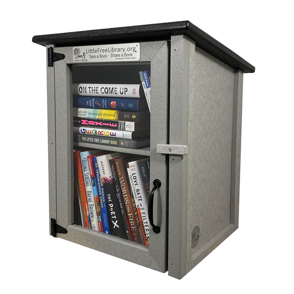 Composite Two Story Gray Kit Little Free Library