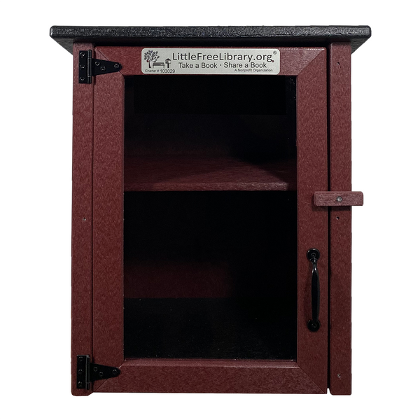 Composite Two Story Maroon Little Free Library