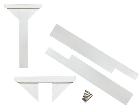 Composite Library Post and Topper Kit White