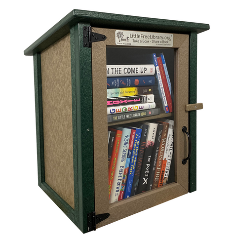 Composite Two Story Forest Little Free Library