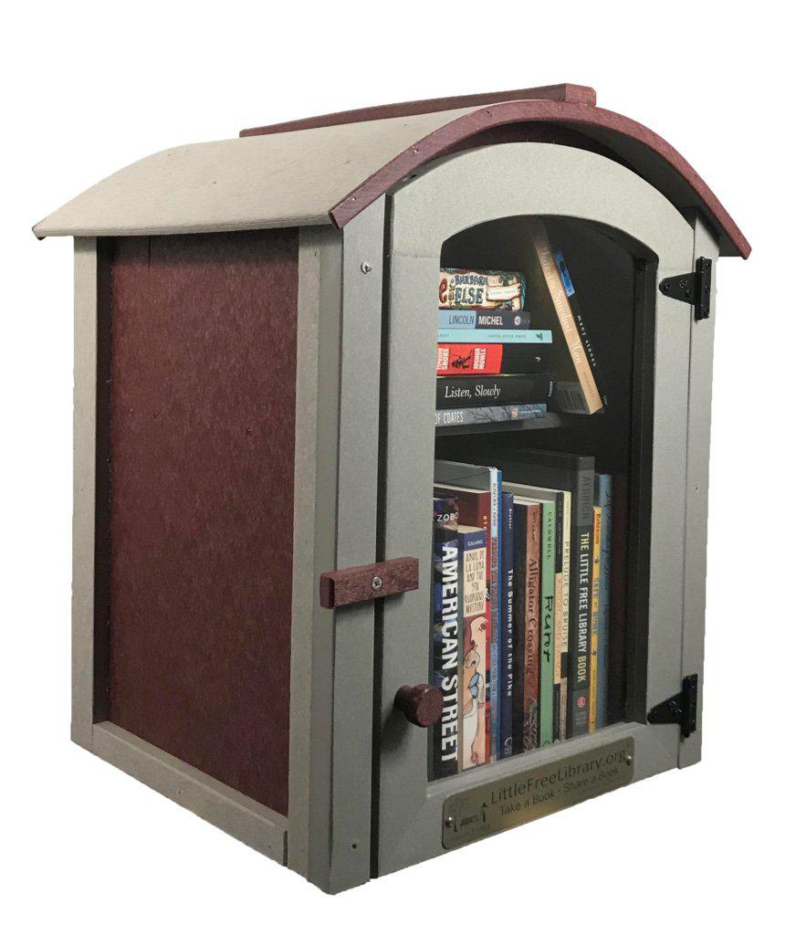 Composite Two Story Arched Little Free Library box