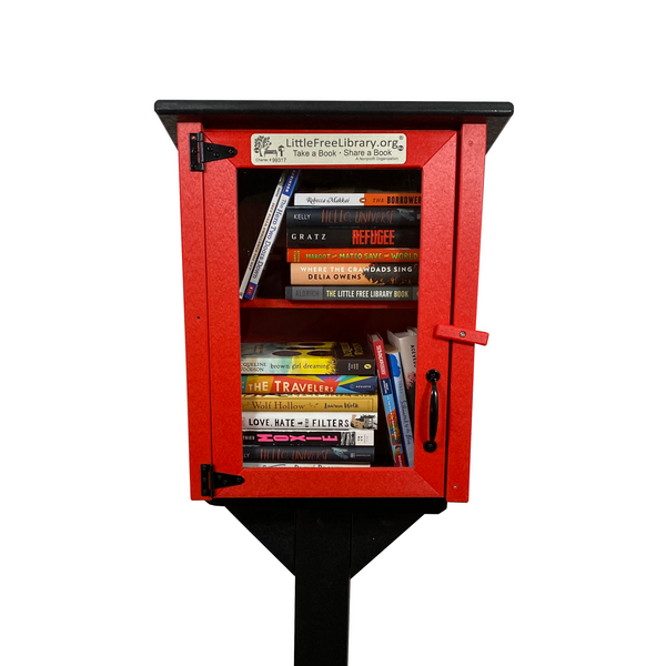 Composite Library Post and Topper Black