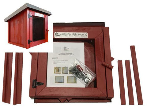 Cottage Red Little Free Library Kit