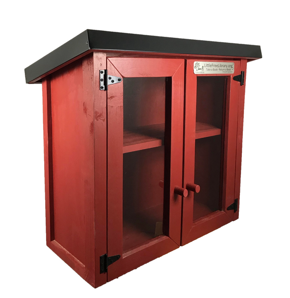 Double Door Shed Red