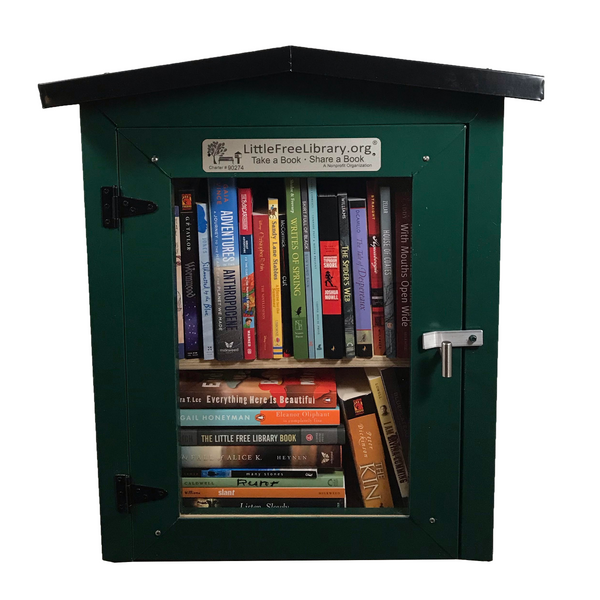 Metal Two Story Green Little Free Library