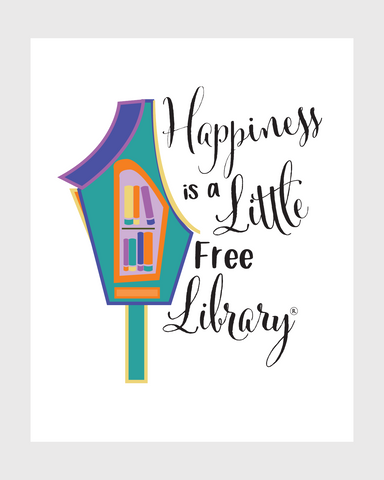 """Happiness is a Little Free Library"" Print"