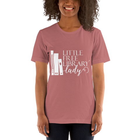 Little Free Library Lady Mauve Shirt