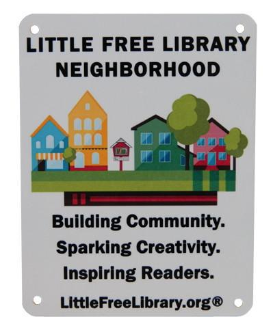 Little Free Library Neighborhood Sign