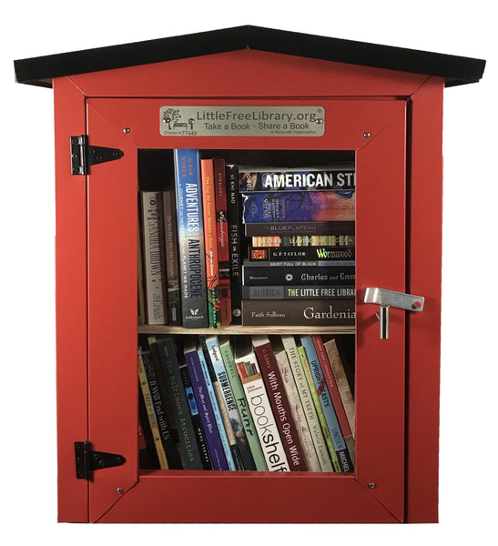 Metal Two Story Red Little Free Library box