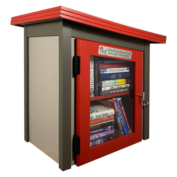 Two Story Modern Little Free Library