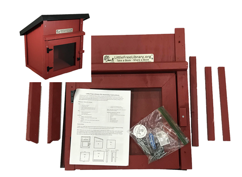 One Story Shed Kit Red