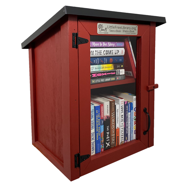 Two Story Shed Red Little Free Library