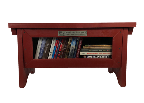 Book Sharing Bench Red