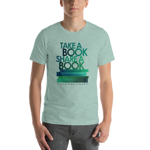 Take a Book Share a Book Teal Shirt