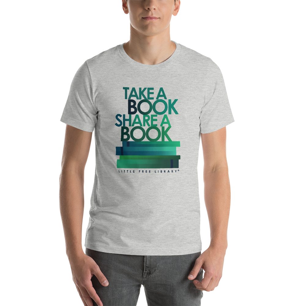 Take A Book Share A Book Heather Gray Shirt