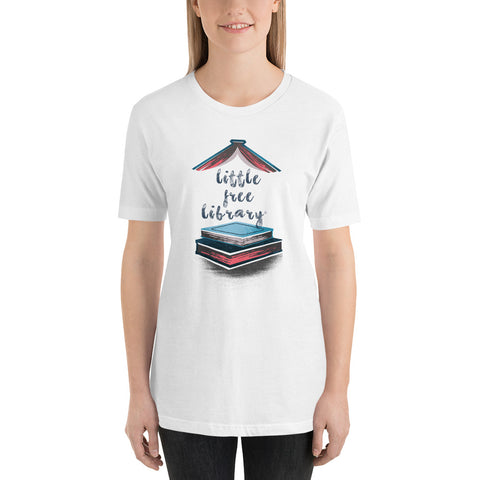 Little Free Library Blue and Pink Unisex T Shirt