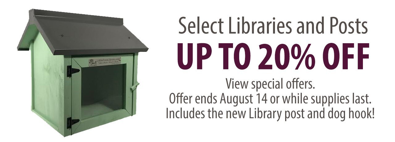Little Free Library save 10 percent on select libraries image