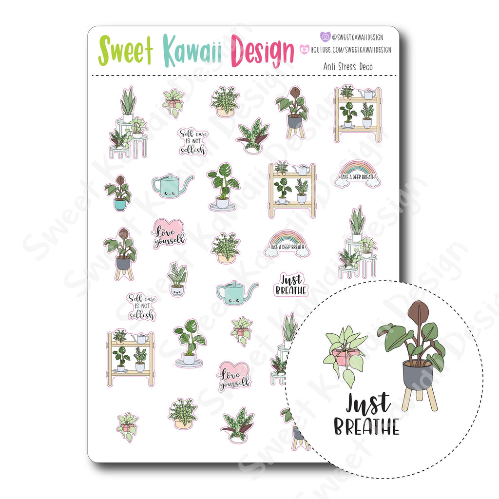 Kawaii Anti Stress Deco Stickers