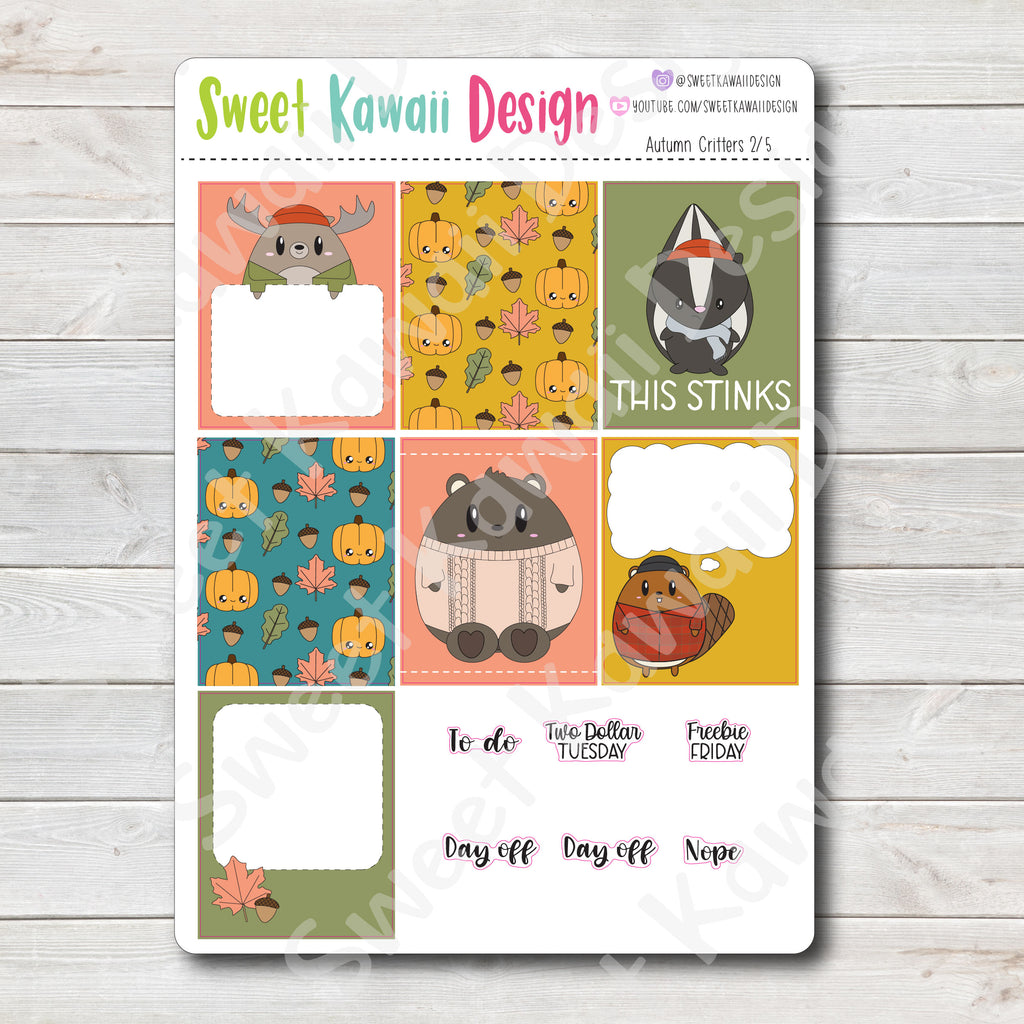Kawaii Plan With Me - Autumn Critters HORIZONTAL