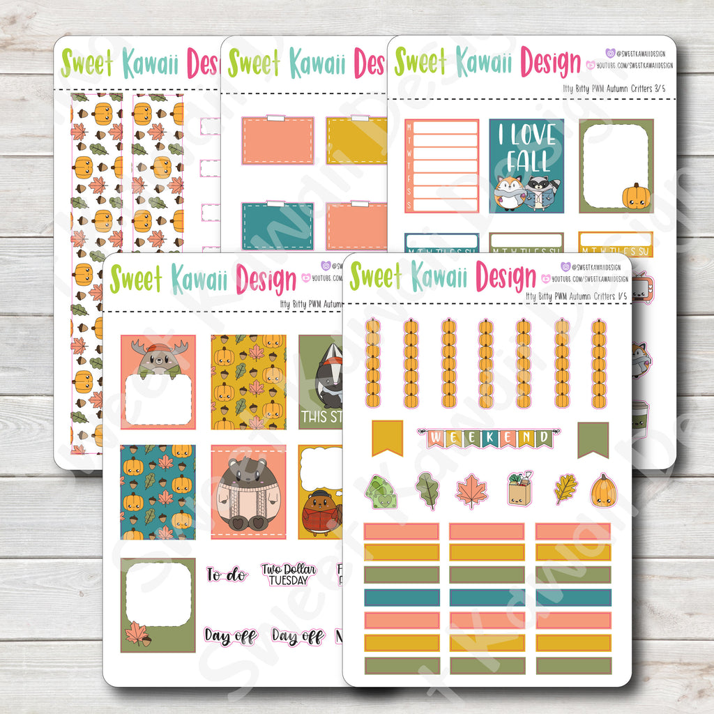 Kawaii Plan With Me - Autumn Critters ITTY BITTY