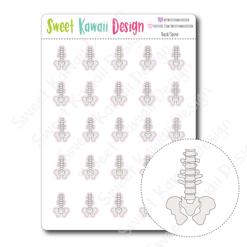 Kawaii Back / Spine  Stickers