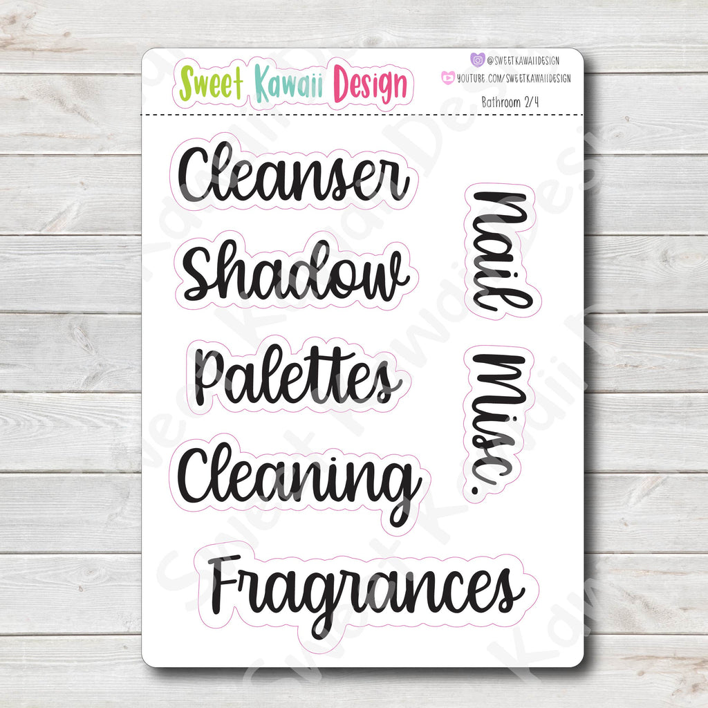 Home Labels - Bathroom