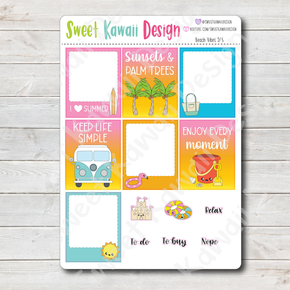 Kawaii Plan With Me - Beach Vibes HORIZONTAL