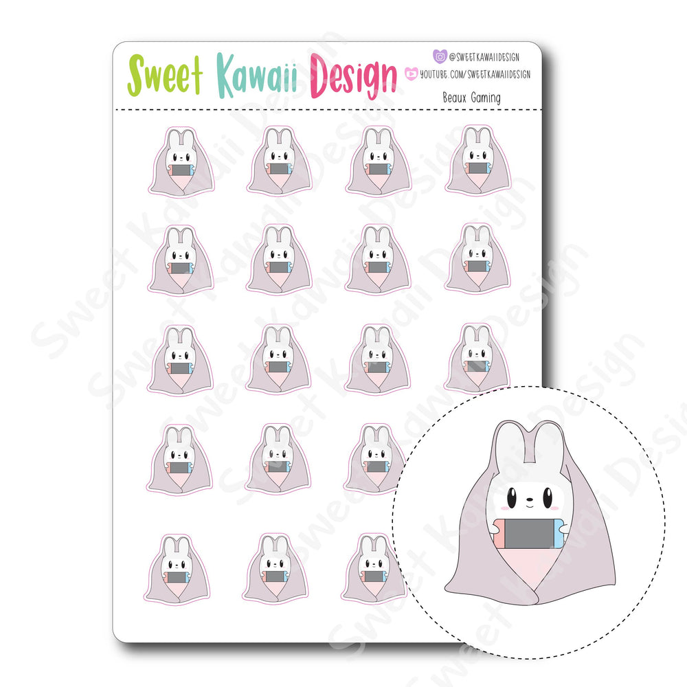 Kawaii Beaux Stickers - Gaming