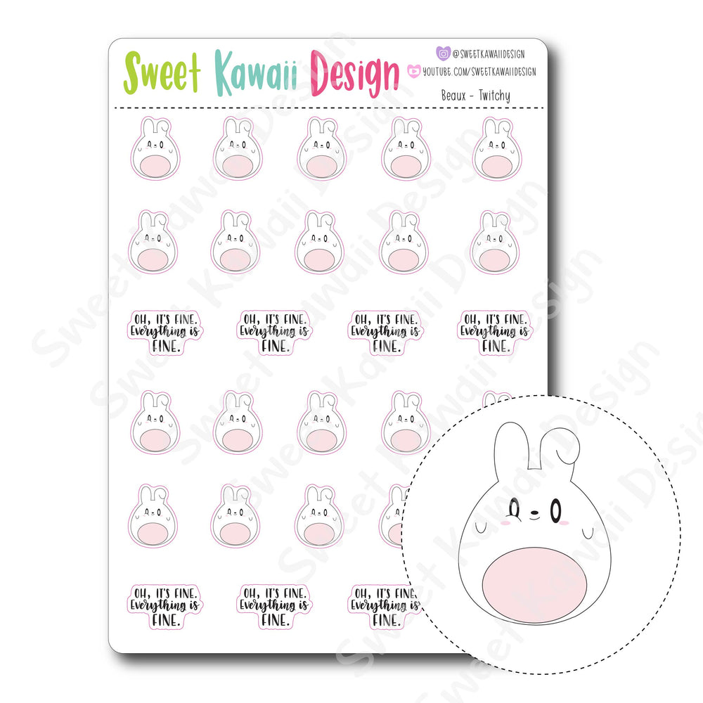 Kawaii Beaux Stickers - Twitchy
