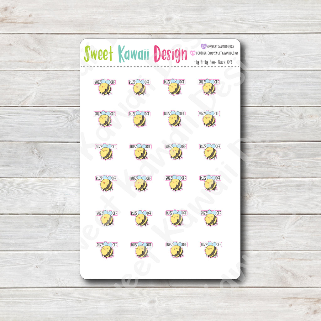Kawaii Bee Stickers - Buzz Off