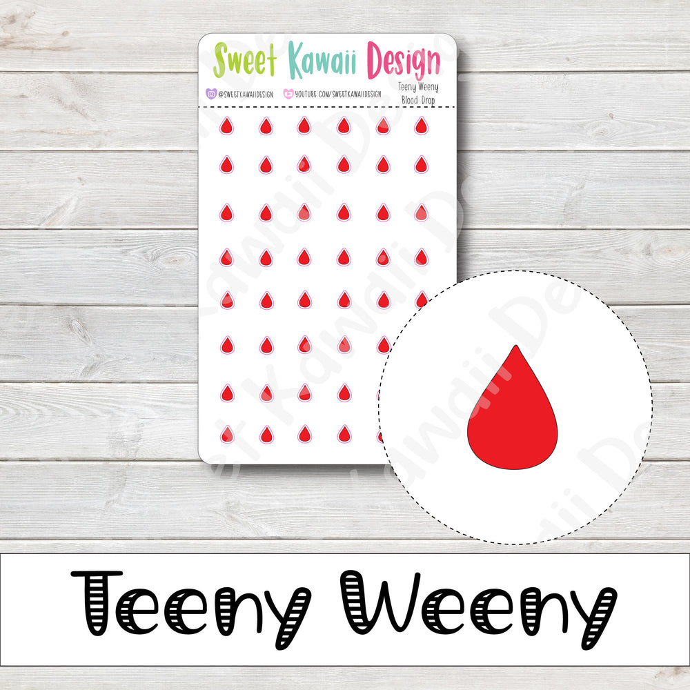 Teeny Weeny Blood Drop Stickers