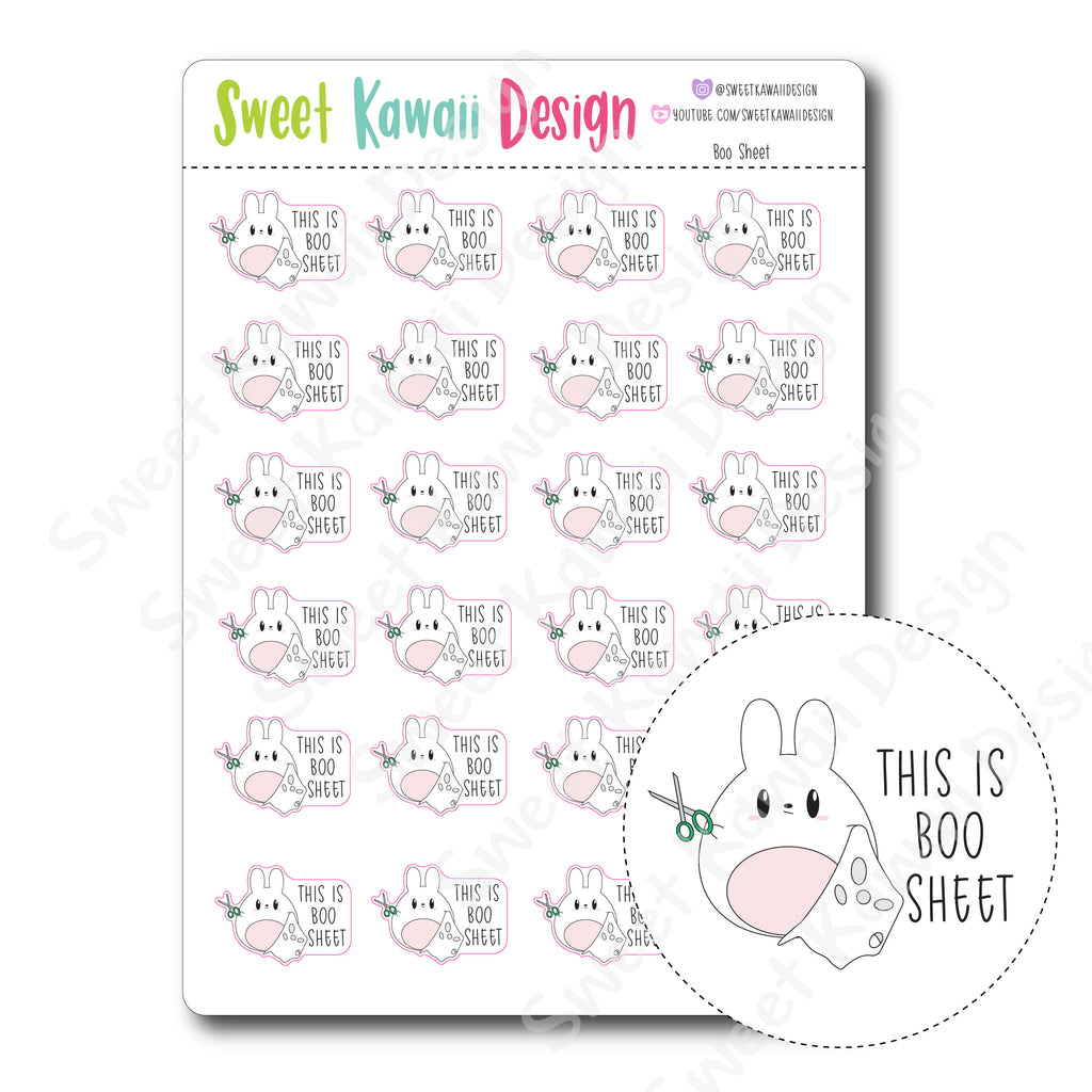 Kawaii Boo Sheet Stickers