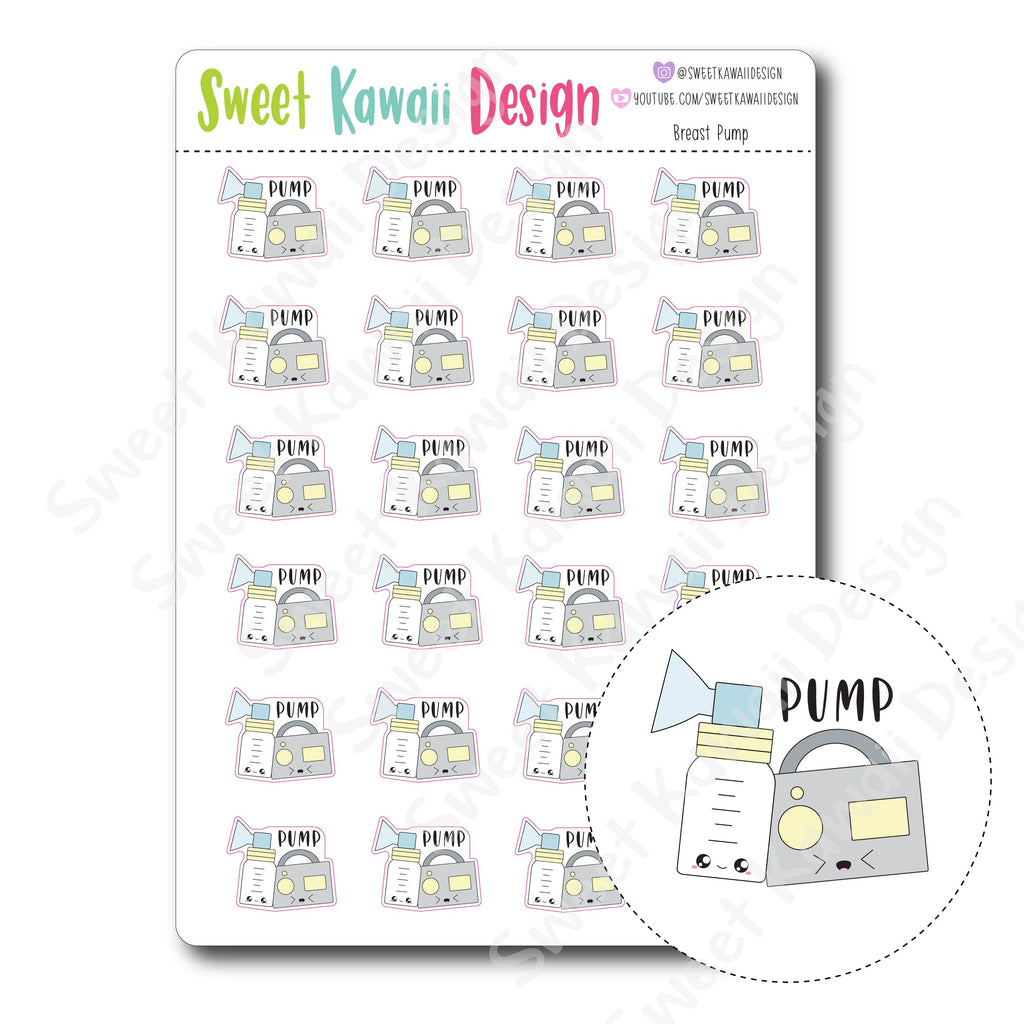 Kawaii Breast Pump Stickers