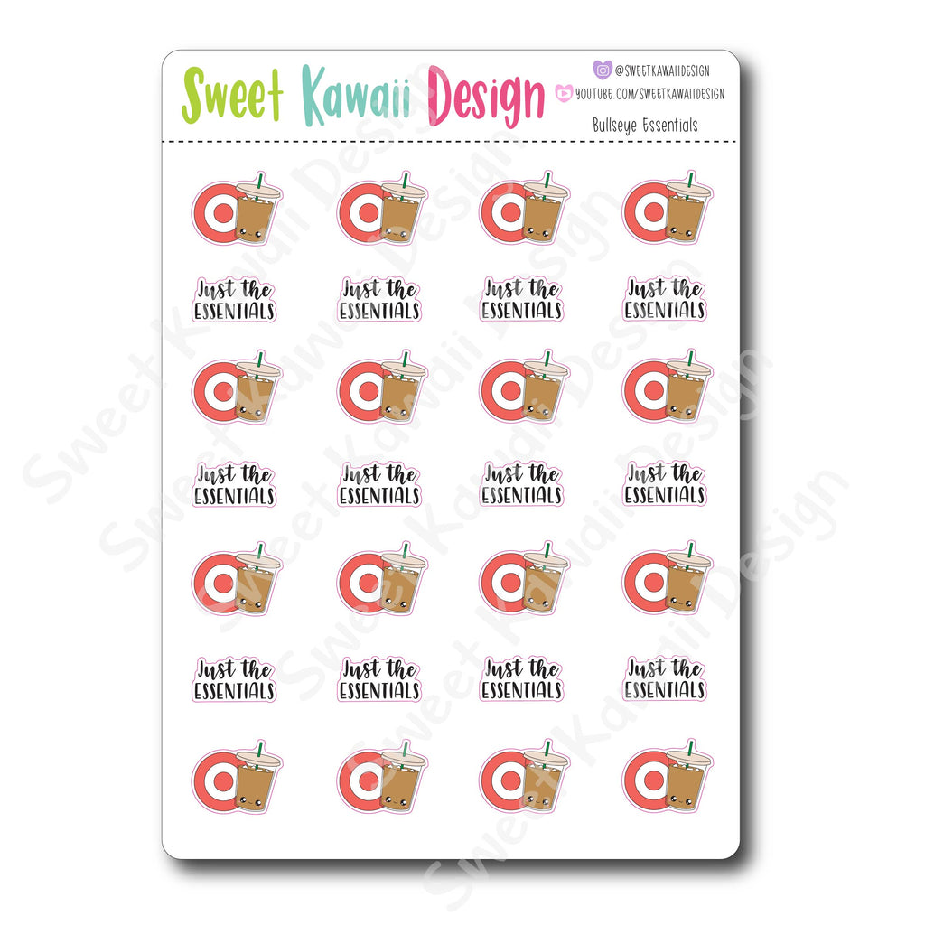 Kawaii Bullseye Essentials Stickers