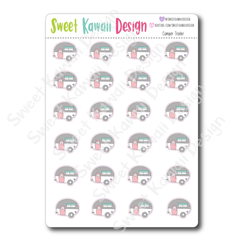 Kawaii Camper Trailer Stickers