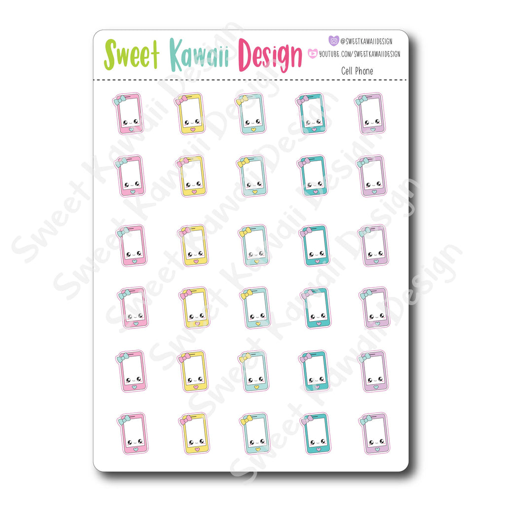 Kawaii Cell Phone Stickers