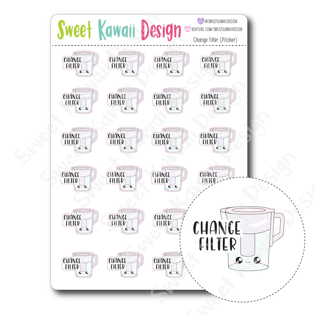 Kawaii Change Filter (Pitcher) Stickers